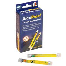 Alcohol Desechable AlcoProof Breathalyser Probador de conducción francés Paquete Doble legal