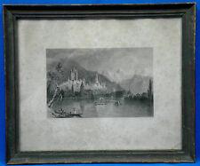 Stahlstich, englisch, Thun am See, Schweiz,1835