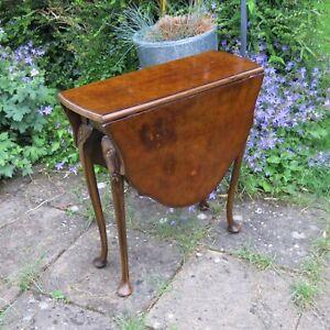 Antique Old Burr Walnut Sutherland Folding Table C.1920