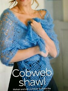 Crochet Pattern for a Ladies Cobweb Shawl  - CR48