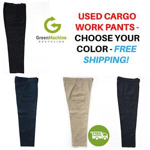 Used Uniform Work Pants Cargo Cintas Redkap Unifirst G&K Dickies etc FREE SHIP