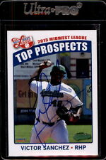 2013 MWL Top Prospects Victor Sanchez Autographed Signed Baseball Card DECEASED