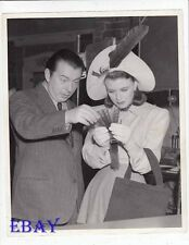 Ginger Rogers Director Lewis Milestone VINTAGE Photo candid on set