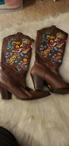 Womens Dolce by Mojo Moxy Womens Western Cowboy Boots Size 9 M embroidery