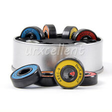 8X DarkWolf Skateboard Bearings Stainles ABEC-9 Multi Color + 4 Spacer New a set