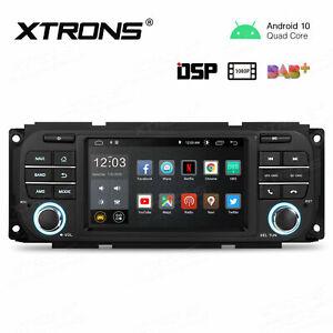 "5"" Android 10.0 Car Stereo Radio GPS NAV Head Unit DSP for JEEP WRANGLER Dodge"