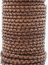 Xsotica® Round Bolo Braided Leather Cord 3 mm 1 Yard Flat Rate Shipping