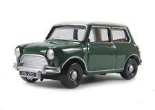 NEW Oxford Diecast 76MN003 Almond Green/Old English White Austin Mini - 1:76