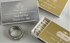 250 Personalized Metallic Boxed Matches Wedding Bridal Shower Party Gift Favors
