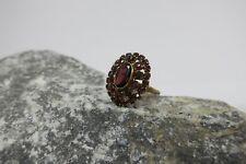 Vintage Granat Ring / Damenring 333 / 8kt Gold , oval , RG 57- garnet ring gold