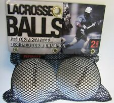 New! Infinity Lacrosse 2 Balls In Package White 2.5 Diameter Rubber Seamless