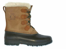Sorel Kaufman Alpine Boots Women Sz 10 Heavy Duty Leather & Rubber Winter Snow