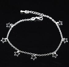 Pretty Star Charm anklet bracelet ankle chain Silver charms Gift Beach