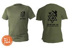 T Shirt Mens Dri Fit Short Sleeve Green Olive Israel Self Defense Krav Maga Idf
