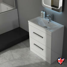 Complete Bathroom Cloakroom Patello Gloss white Storage Vanity Unit Suite Option