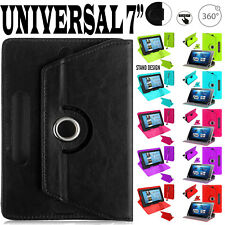 "(Seven) 7"" Inch Amazon Fire Alexa Kindle Leather 360° & Stand Case Cover Pouch"
