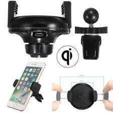 Qi Wireless Smart Cell Phone Charger Holder Car Interior Air Vent Mount Universa