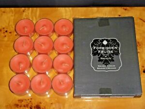 PartyLite One Full Box (12) Forbidden Fruits Tangerine Tease Tealight Candles