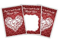 Valentine's Day Thank You Cards - I love You - Heart - Pack of 15 by Party Decor