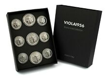 set 9 bottoni in metallo - serie VIOLA1956 - 008 MARINA