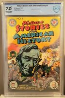 🍁 Picture Stories From American History #4 (EC, 1947) CGC 7.0 FN/VF O/W Pages