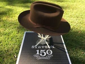 Stetson 150th Anniversary Open Road Royal Deluxe Soft Fur Felt Walnut Hat 7 1/4