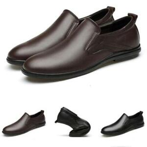 Mens Driving Moccasins Soft Walking Faux Leather Pumps Slip on Loafers Shoes L