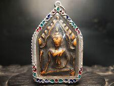 Old antiqua ceramic Pra Khun Phaen Gru Wat Ban Krang, Supann Buri  . thai buddha