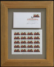 Ed Mell Arizona Centennial Commemorative and First Day of Issue Stamps