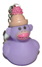 CUTE RUBBER SOCK MONKEY DUCK KEY CHAIN (KC024-Lavender)