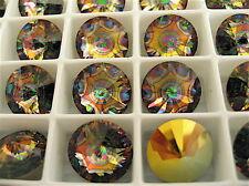 6 Crystal Peacock Eye Swarovski  Rivoli Stones 1122 12mm