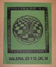 Cuban Original Cultural Poster Galeria 23 y 12.Fernando Gomez Art Design.Green.