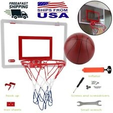 Mini Pro Basketball Hoop With Ball Indoor Door Mount Kids Bedroom Sports Gift US