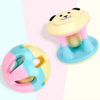 Cartoon Cute Baby Rattle Teething Hand Bells Grab Train Early Education Toys S