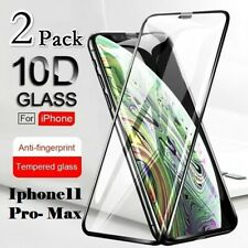 2X Apple iPhone11 Pro-Max Tempered Glass Full Screen Protector & Free Return