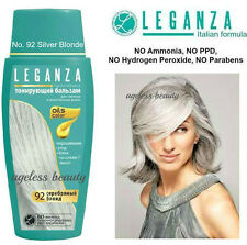 SILVER BLONDE Hair Colouring Conditioner w NATURAL OILS Colorant Dye NO PARABENS