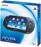 SONY PS Vita PCH-1000 ZA01 Crystal Black Console Wi-Fi model JAPAN OFFICIAL