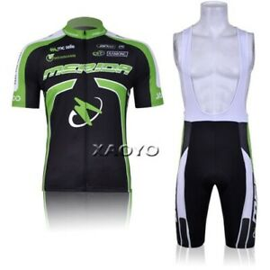 Men's Cycle Jersey & Shorts New Full Zip Moisture Wicking New Bicycle Black