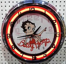 "17"" BETTY BOOP Sign Single Neon Clock"