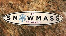 Snowmass Ski Sticker- Skiing Snowboarding Colorado Mountain Sports Burton