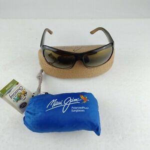 Maui Jim Sunglasses Palms MJ111-01 Size 63-15 L115  Chocolate Fade + Case & Bag