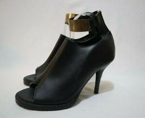 Shakuhachi Size 10 Womens  Leather Peep Toe Mini Platform Mules Heels