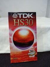 TDK VHS BLANK TAPE HS30 BRAND IN WRAP