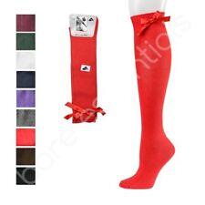 3 X Pair of Baby Girls Knee High Socks, Girls School Socks With Bow Size 00-9-12