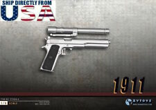 1/6 Scale M1911 Silver Pistol Gun Rifle Military DiD BBI For Hot Toys Figure USA