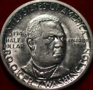 1946 Philadelphia Mint Booker T Washington Silver Comm Half