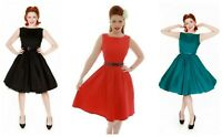 Lindy Bop Retro Vintage 50s Red Black Navy Audrey Cotton Dress sizes 8-20
