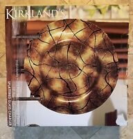 Kirkland's Hand Painted Splattered Glass Charger