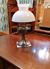 More details for vintage oil lamp with white glass top shade  ref 2583