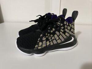 New Nike Lakers LeBron XVII PS Preschool Kids Basketball Shoes BQ5595-004 Sz 11C